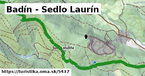 ilustračný obrázok k Badín - Sedlo Laurín