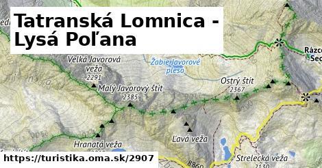 ilustračný obrázok k Tatranská Lomnica - Lysá Poľana