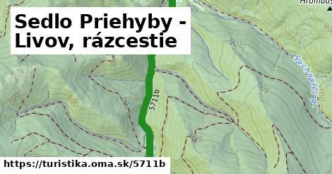 ilustračný obrázok k Sedlo Priehyby - Livov, rázcestie