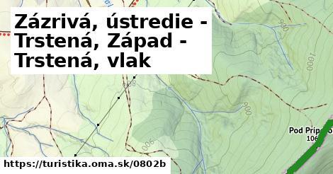 ilustračný obrázok k Zázrivá, ústredie - Trstená, Západ
