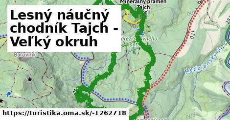 Lesný náučný chodník Tajch - Veľký okruh