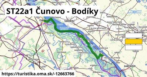 ST22a1 Čunovo - Bodiky