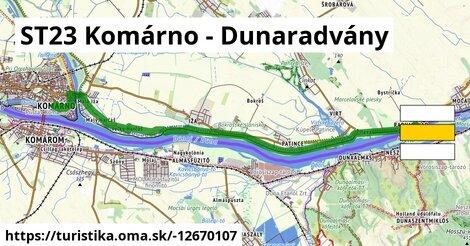 ST23 Komárno - Dunaradvány