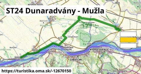 ST24 Dunaradvány - Mužla