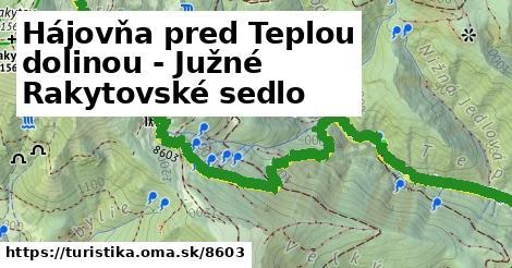 ilustračný obrázok k Hájovňa pred Teplou dolinou - Južné Rakytovské sedlo