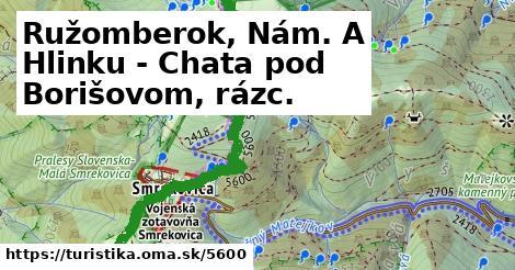 ilustračný obrázok k Ružomberok, Nám. A Hlinku - Chata pod Borišovom, rázc.