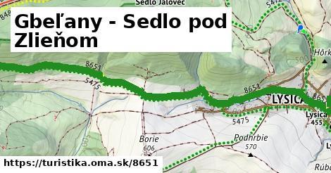 ilustračný obrázok k Gbeľany - Sedlo pod Zlieňom