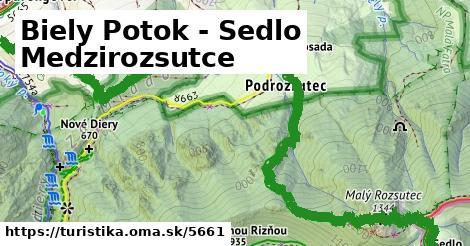 ilustračný obrázok k Biely Potok - Sedlo Medzirozsutce