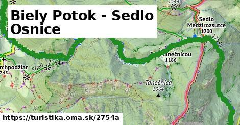 ilustračný obrázok k Biely Potok - Sedlo Osnice