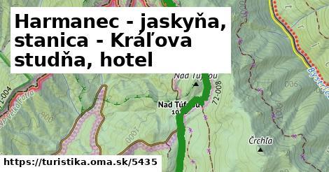 ilustračný obrázok k Harmanec - jaskyňa, stanica - Kráľova studňa, hotel