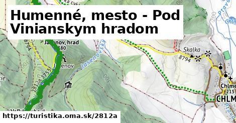 ilustračný obrázok k Humenné, mesto - Pod Vinianskym hradom