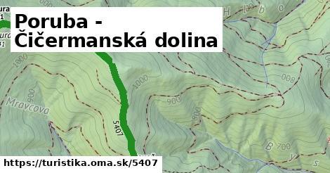 ilustračný obrázok k Poruba - Čičermanská dolina