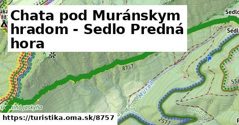 ilustračný obrázok k Chata pod Muránskym hradom - Sedlo Predná hora