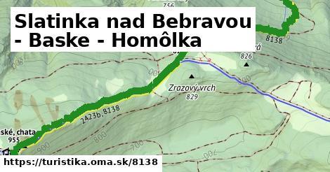 ilustračný obrázok k Slatinka nad Bebravou - Baske - Homôlka