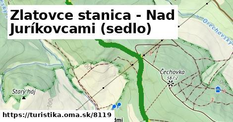 ilustračný obrázok k Zlatovce stanica - Nad Juríkovcami (sedlo)