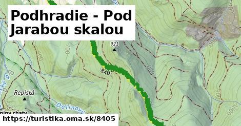 ilustračný obrázok k Podhradie - Pod Jarabou skalou