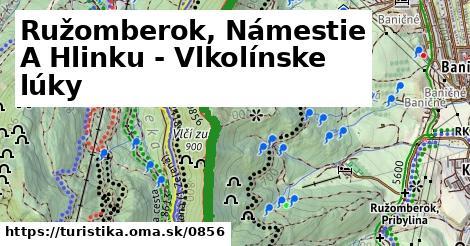 ilustračný obrázok k Ružomberok, Námestie A Hlinku - Vlkolínske lúky