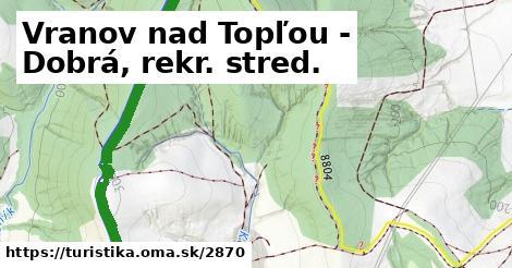 ilustračný obrázok k Vranov nad Topľou - Dobrá, rekr. stred.