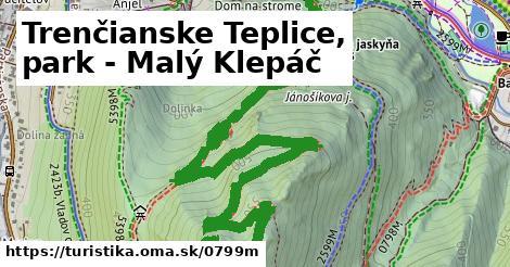 ilustračný obrázok k Trenčianske Teplice, park - Malý Klepáč