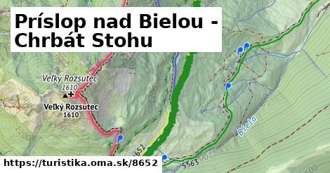 ilustračný obrázok k Príslop nad Bielou - Chrbát Stohu