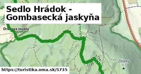 ilustračný obrázok k Sedlo Hrádok - Gombasecká jaskyňa