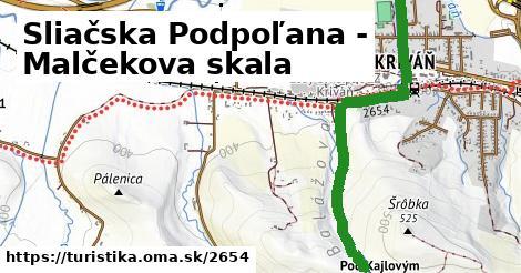 ilustračný obrázok k Sliačska Podpoľana - Malčekova skala