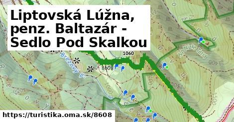 ilustračný obrázok k Liptovská Lúžna, penz. Baltazár - Sedlo Pod Skalkou