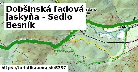 ilustračný obrázok k Dobšinská ľadová jaskyňa - Sedlo Besník
