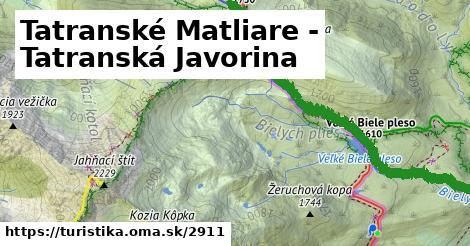 ilustračný obrázok k Tatranské Matliare - Tatranská Javorina
