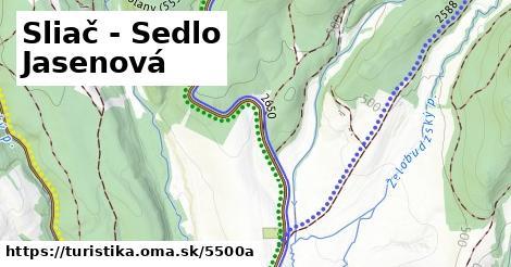 ilustračný obrázok k Sliač - Sedlo Jasenová