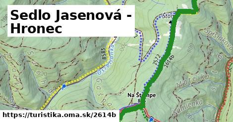 ilustračný obrázok k Sedlo Jasenová - Hronec