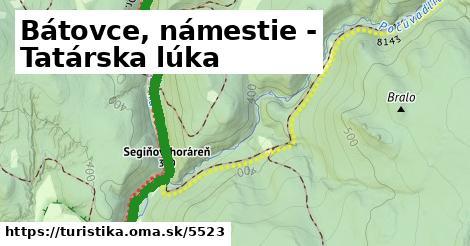 ilustračný obrázok k Bátovce, námestie - Tatárska lúka