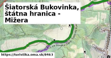 ilustračný obrázok k Šiatorská Bukovinka, štátna hranica - Mižera