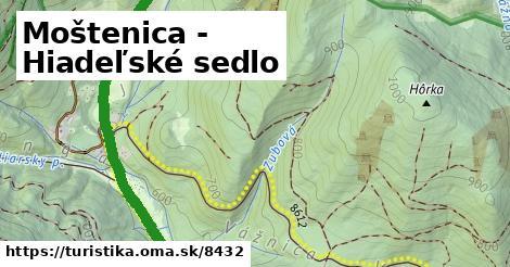 ilustračný obrázok k Moštenica - Hiadeľské sedlo