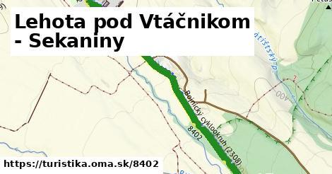 ilustračný obrázok k Lehota pod Vtáčnikom - Sekaniny