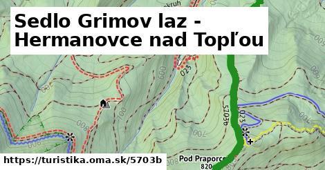 ilustračný obrázok k Sedlo Grimov laz - Hermanovce nad Topľou