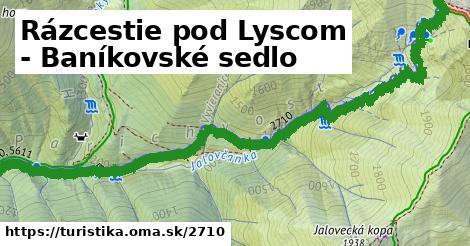 ilustračný obrázok k Rázcestie pod Lyscom - Baníkovské sedlo