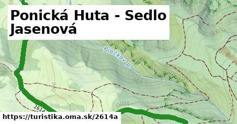 ilustračný obrázok k Ponická Huta - Sedlo Jasenová