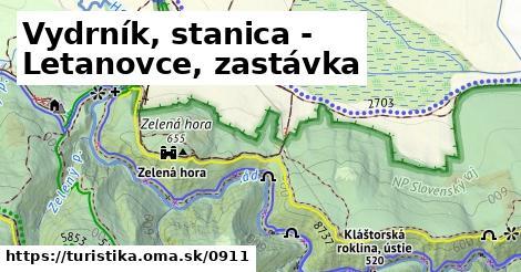 ilustračný obrázok k Vydrník, stanica - Letanovce, zastávka