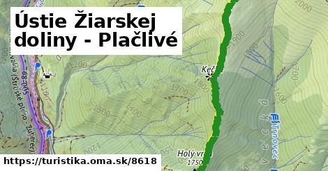 ilustračný obrázok k Ústie Žiarskej doliny - Plačlivé