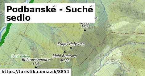 ilustračný obrázok k Podbanské - Suché sedlo