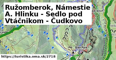 ilustračný obrázok k Ružomberok, Námestie A. Hlinku - Sedlo pod Vtáčnikom - Čudkovo
