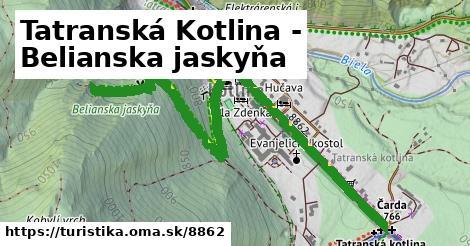 ilustračný obrázok k Tatranská Kotlina - Belianska jaskyňa