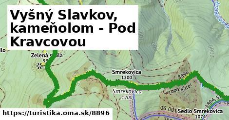 ilustračný obrázok k Vyšný Slavkov, kameňolom - Pod Kravcovou