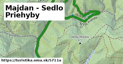 ilustračný obrázok k Majdan - Sedlo Priehyby