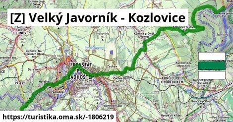 [Z] Velký Javorník - Kozlovice