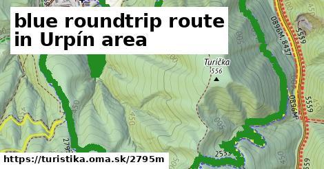 ilustračný obrázok k blue roundtrip route in Urpín area