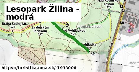 ilustračný obrázok k Lesopark Žilina - modrá