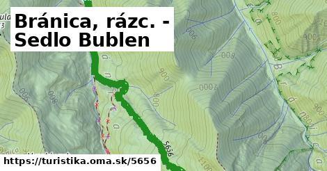 ilustračný obrázok k Bránica, rázc. - Sedlo Bublen