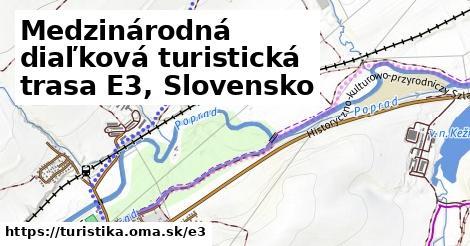 ilustračný obrázok k Medzinárodná diaľková turistická trasa E3, Slovensko